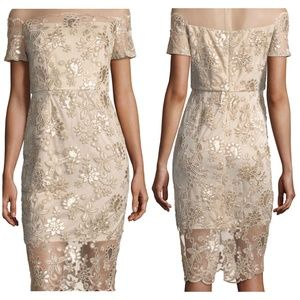 NWT JAX Floral Sequin Embroidered Sheath Dress 6